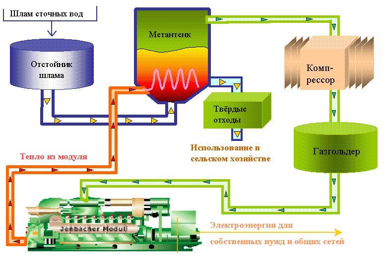 Биогаз состоит в среднем из